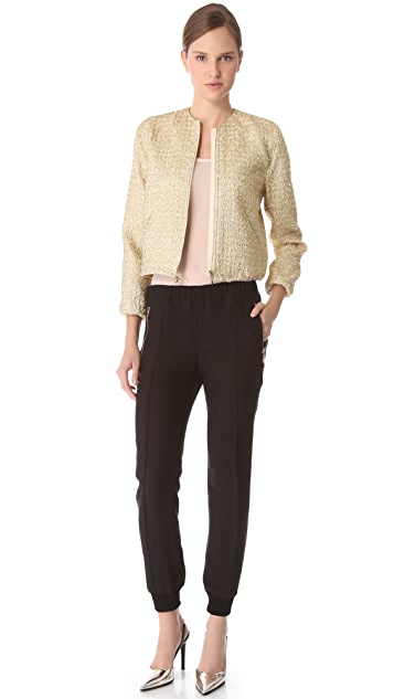 Giambattista Valli Gold Tweed Warm Up Jacket
