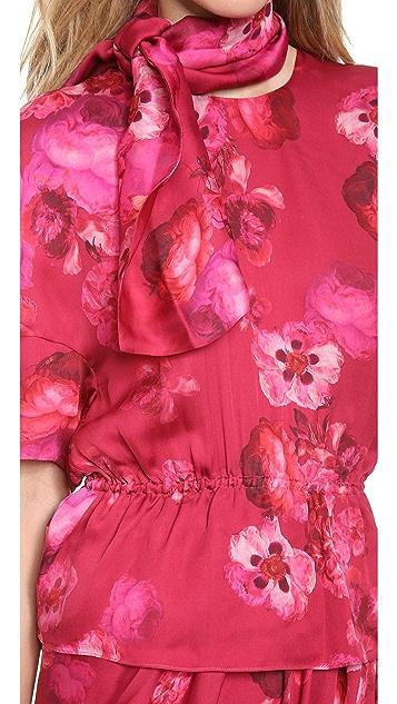 Giambattista Valli Printed Silk Blouse