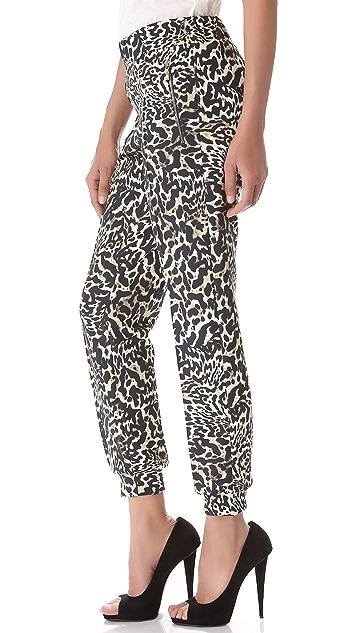 Giambattista Valli Leopard Print Pants
