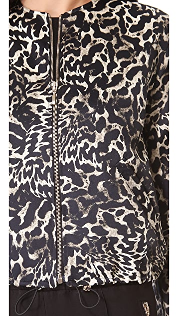 Giambattista Valli Leopard Bomber Jacket