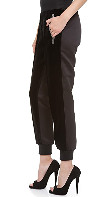 Giambattista Valli Velvet Jogging Pants