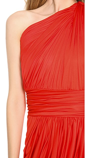 Giambattista Valli One Shoulder Dress