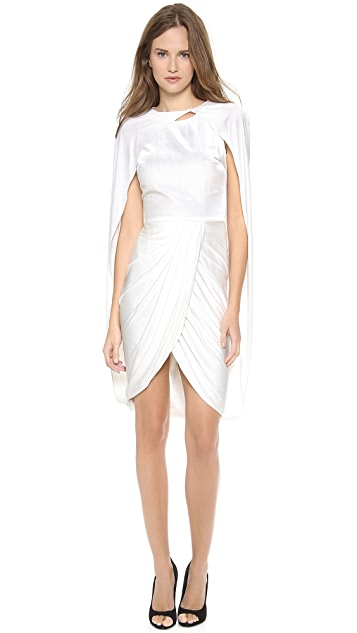 Giambattista Valli Sleeveless Cape Dress