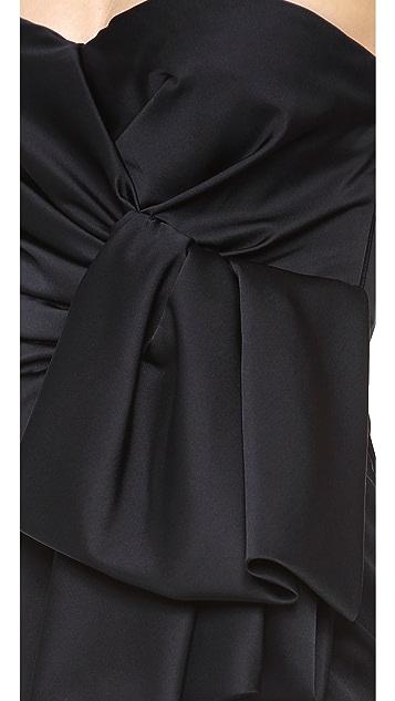Giambattista Valli Strapless Satin Dress