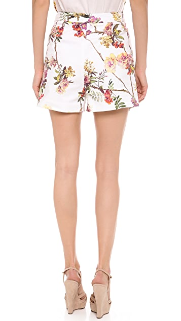 Giambattista Valli Brocade Twill Shorts