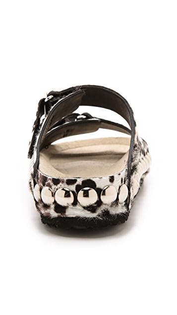 Giambattista Valli Studded Haircalf Sandals