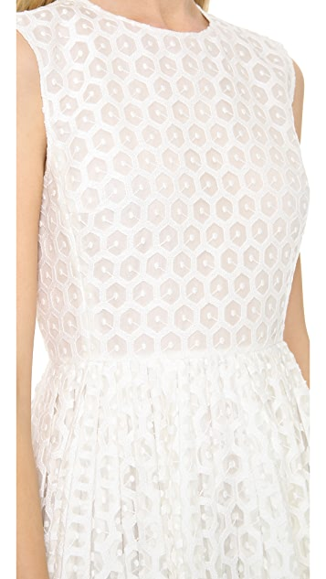Giambattista Valli Flocked Sleeveless Dress