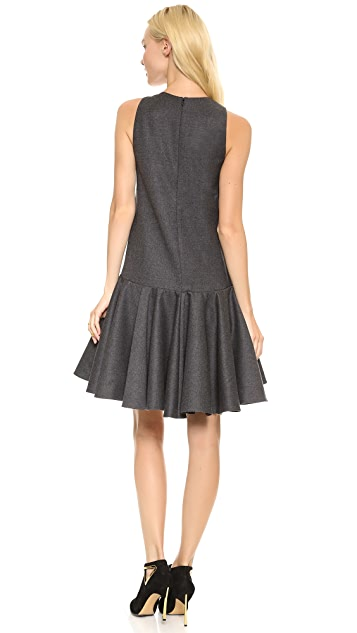 Giambattista Valli Sleeveless Felt Dress