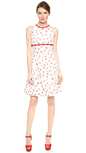 Giambattista Valli Lattice Lip Trim Dress