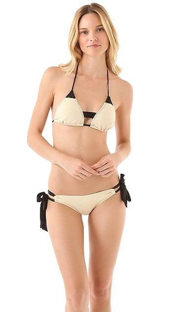 Giejo Mixed Side Tie Bikini Bottoms