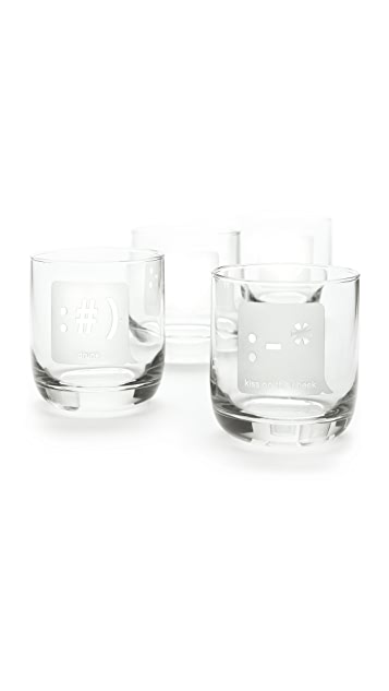 Gift Boutique TXT U Glass Tumbler Set