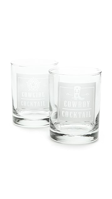 Gift Boutique Rodeo Glass Tumbler Set