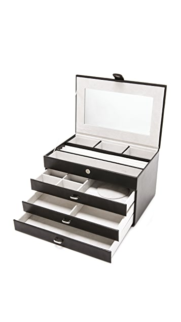 Gift Boutique 4 Level Leather Jewelry Box