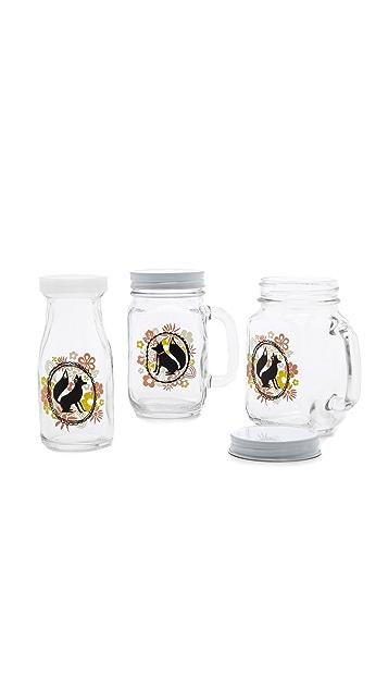 Gift Boutique Mrs. & Mr. Fox Mason Jar Set
