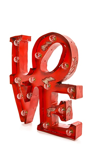 Gift Boutique Светящийся знак Love
