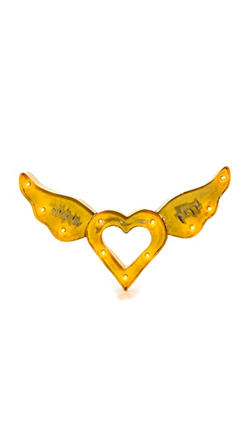 Gift Boutique Heart Wing Light Sign