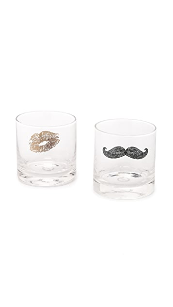 Gift Boutique Tickle & Kiss Glass Set