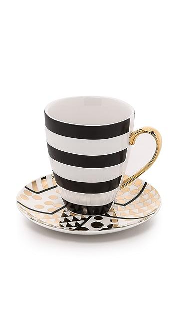 Gift Boutique Aurora Stripe Mug & Dessert Plate Set