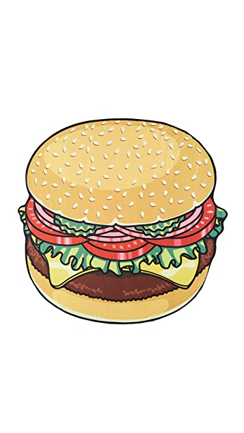 Gift Boutique Gigantic Burger Beach Blanket