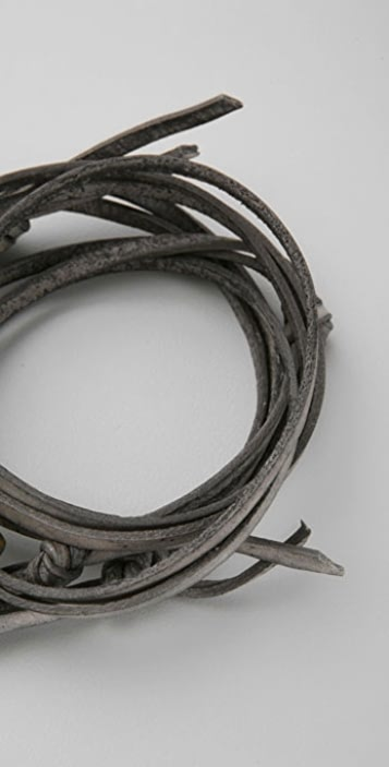 Giles & Brother Leather Wrap Bracelet