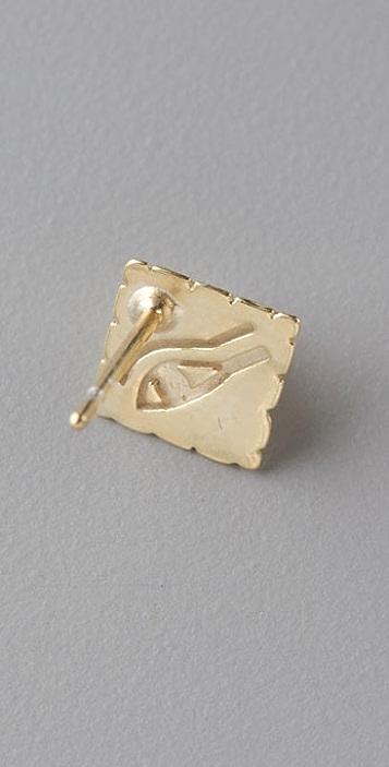 Giles & Brother Tiny Pyramid Stud Earrings