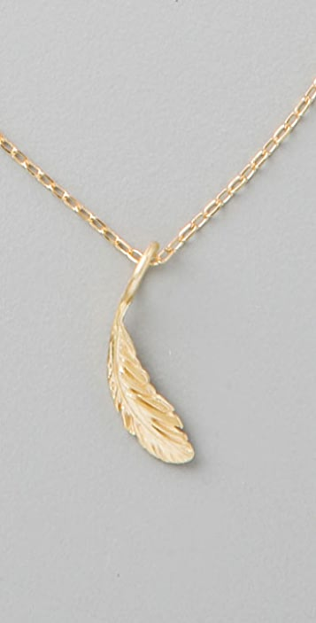 Giles & Brother Tiny Feather Necklace