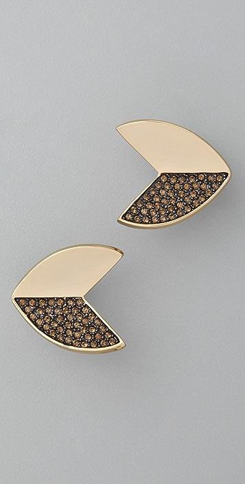 Giles & Brother Nara Pave Stud Earrings