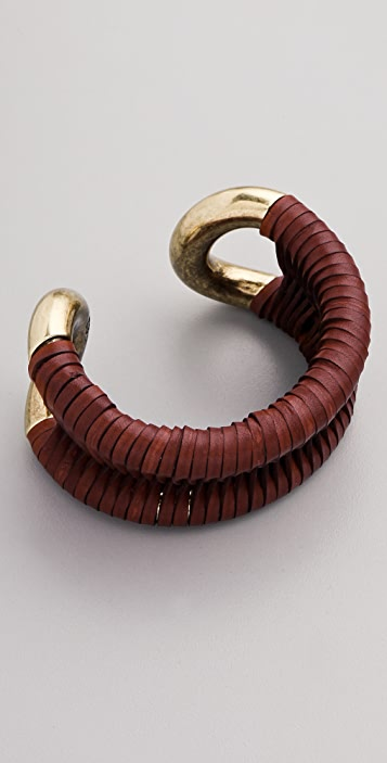 Giles & Brother Leather Wrapped Cortina Cuff