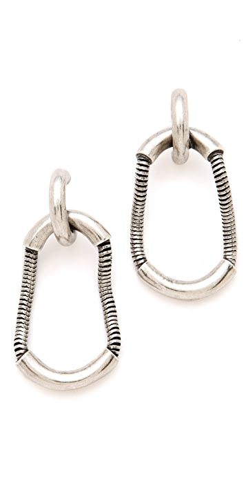 Giles & Brother Cortina Snake Chain Earrings
