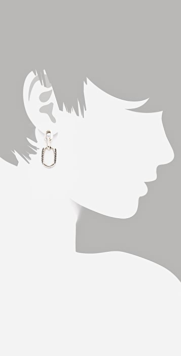 Giles & Brother Chain Link Earrings with Pave