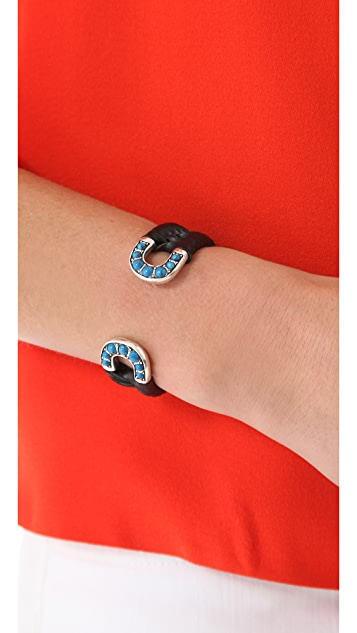 Giles & Brother Skinny Cab Cortina Cuff with Leather