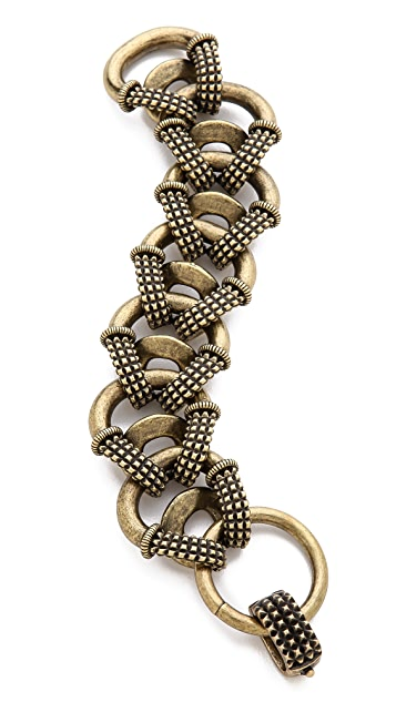 Giles & Brother Textured Cortina Chain Bracelet