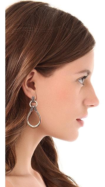 Giles & Brother Pave Loop Link Earrings