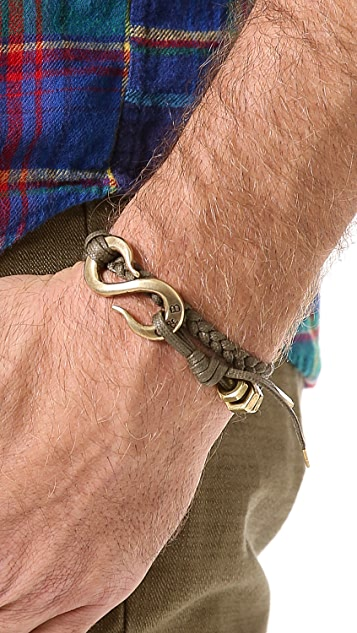 Giles & Brother Braided S Hook Bracelet