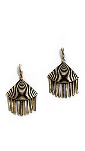 Giles & Brother Fan Fringe Earrings