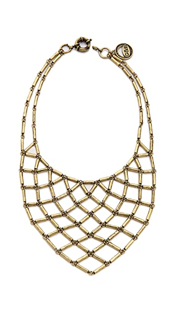 Giles & Brother Hammered Bib Necklace