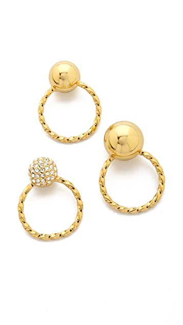 Giles & Brother Triple Twist Ball Ring