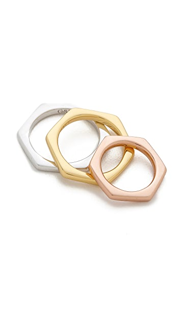Giles & Brother Set of 3 Hex Rings
