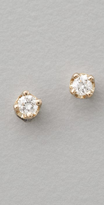 ginette_ny Mini Diamond Puce Earrings