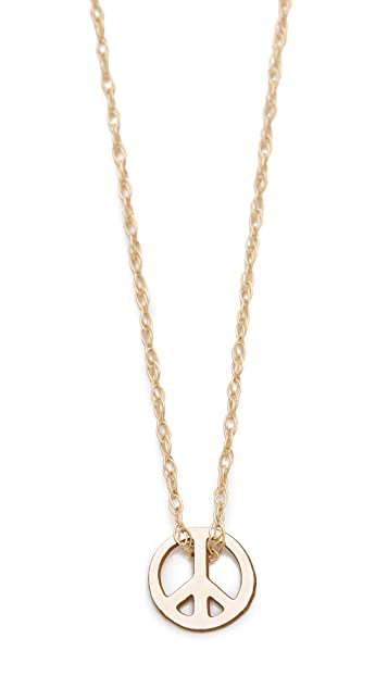 ginette_ny Mini Peace Necklace