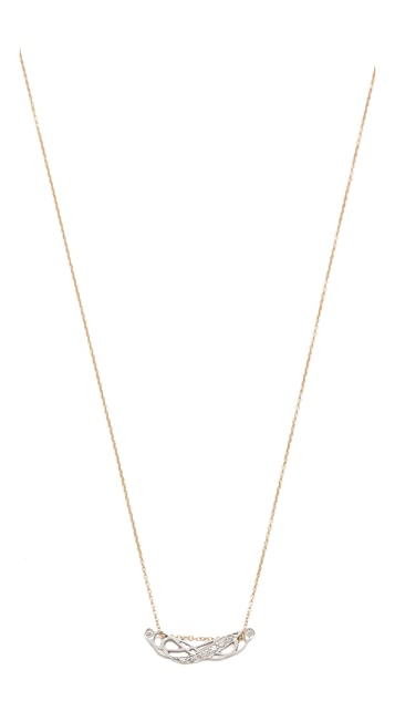ginette_ny Tiny Diamond Volute Necklace