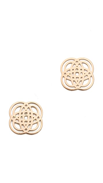 ginette_ny 18k Rose Gold Purity Stud Earrings