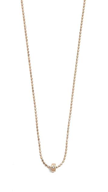 ginette_ny Mini Tube & Diamond Sautoir Necklace