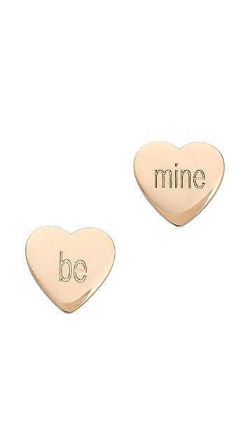 ginette_ny Be Mine Petal Stud Earrings
