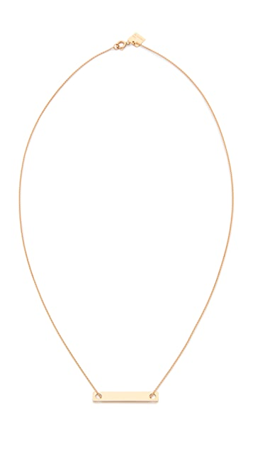 ginette_ny 18k Gold Mini Baguette Necklace