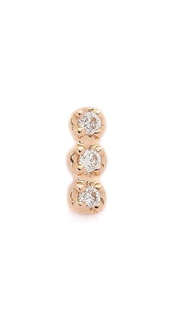ginette_ny Solo Diamond Strip Stud Earring
