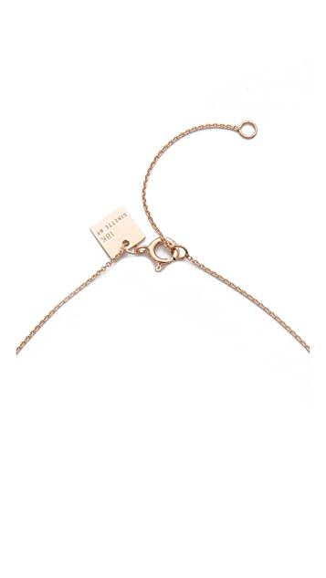 ginette_ny Ceramic Ring On Chain Necklace