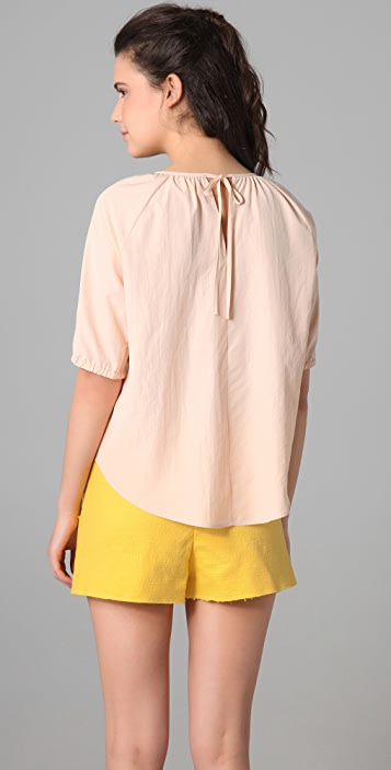 Girl. by Band of Outsiders Silky Baseball Top