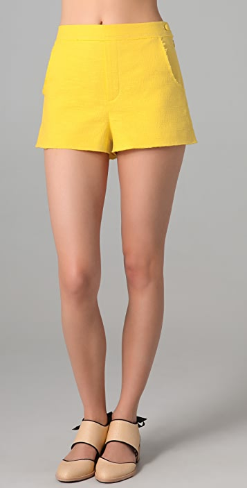 Girl. by Band of Outsiders Short Tweed Shorts