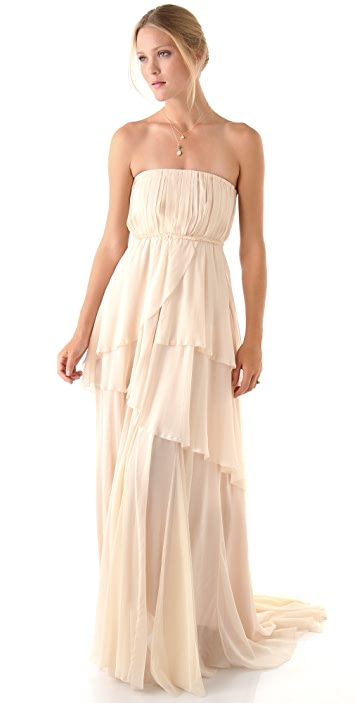 Girl. by Band of Outsiders Charlotte Strapless Dress